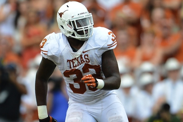 Texas linebacker Steve Edmond will miss the rest of the season after suffering a lacerated liver. (USATSI)