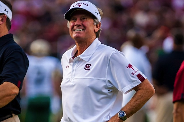 Steve Spurrier was predictably verbose in his address at SEC Media Days. (USATSI)