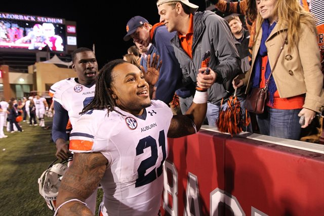 Tre Mason's ninth-ranked Auburn Tigers are one of four teams that could appear on CBS. (USATSI)