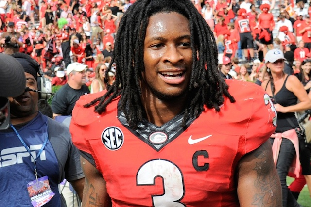 Todd Gurley totaled 132 yards rushing on 31 carries in the Bulldogs 41-30 victory. (USATSI)