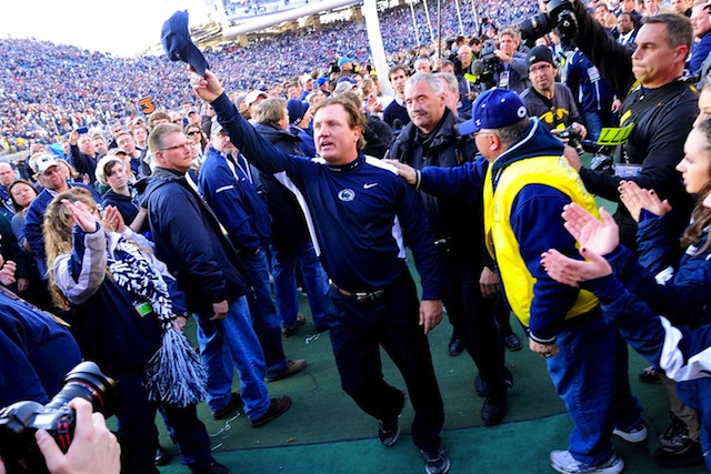 Tom Bradley was Penn State's interim coach during the Jerry Sandusky sex-abuse scandal.  (USATSI)