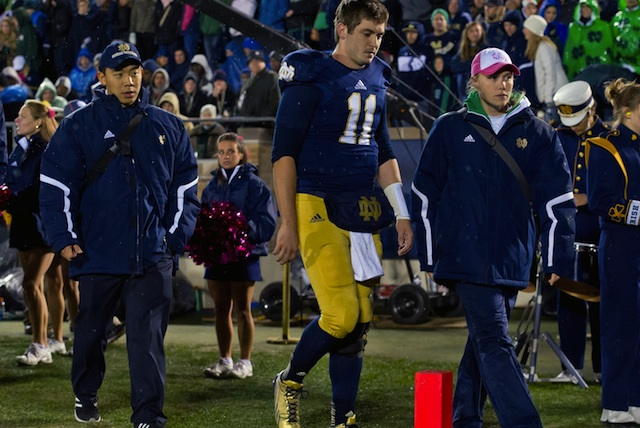 Tommy Rees was cleared to practice after sustaining a neck injury. (USATSI)