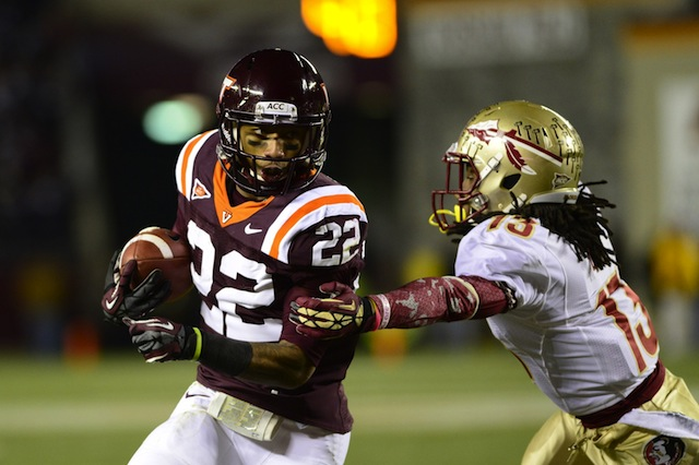 Virginia Tech RB Tony Gregory's Virginia Tech career is likely over after re-tearing his ACL. (USATSI)