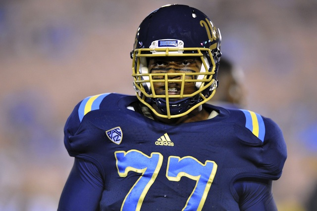 UCLA starting tackle Torian White is out indefinitely with a broken ankle. (USATSI)