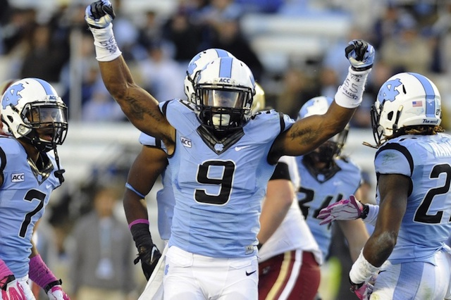 UNC linebacker Travis Hughes was suspended from team activities after an assault charge from campus police.  (USATSI)