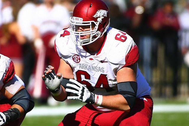 Arkansas center Travis Swanson headlines a list of 44 centers to watch in 2013. (USATSI)