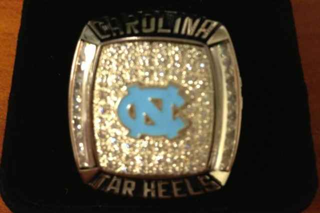 North Carolina's ACC Coastal Division championship rings. (Jason Freeman/Twitter.com)