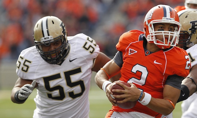 Brandon Taylor (#55) is no longer with the Boilermakers
