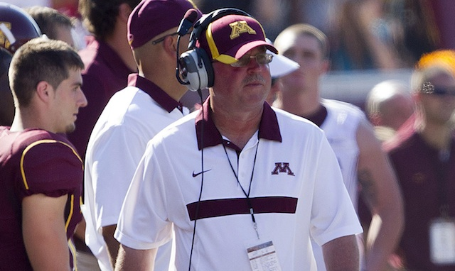 Minnesota's Jerry Kill needed medical attention during Saturday's game