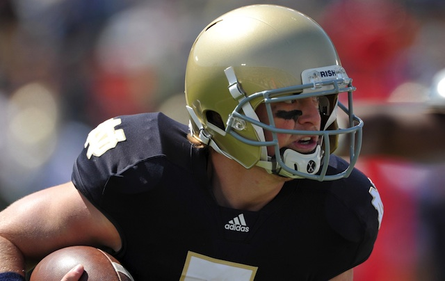 Gunner Kiel put an end to speculation he could return to Notre Dame