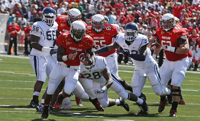 Brown rushed for 382 yards with the Terrapins last season