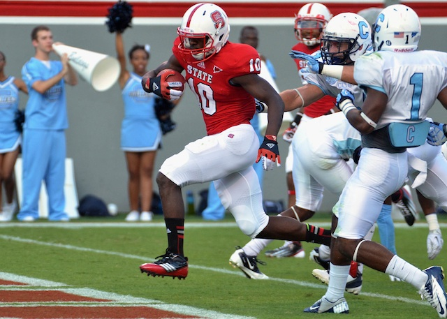 Thornton led a rather ineffective N.C. State rushing attack in 2012