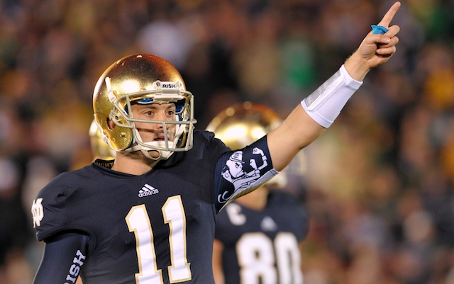 Tommy Rees seems to have won the nonexistent quarterback competition in South Bend