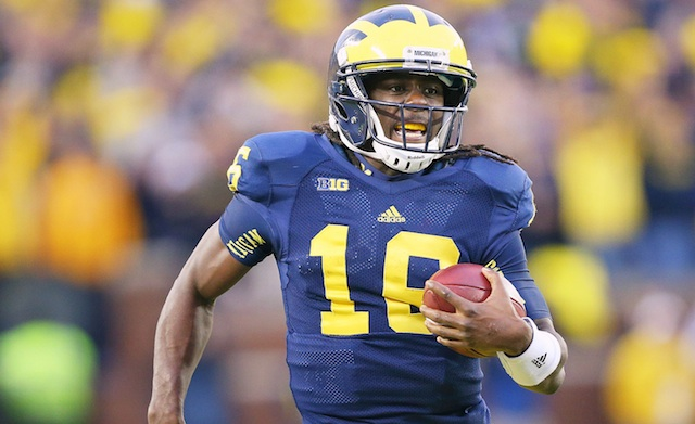 Denard Robinson went 1-3 in his career against Michigan State
