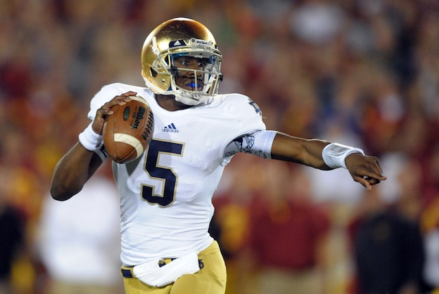 Everett Golson will work with George Whitfield before returning to South Bend