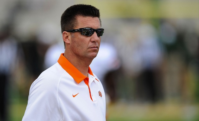 Mike Gundy's Oklahoma State squad is the Big 12 fave. (USATSI)