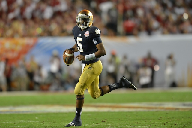 Everett Golson helped lead the 2012 Notre Dame team to the BCS National Championship Game.