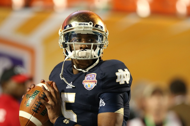 Everett Golson hopes to return to Notre Dame in 2014