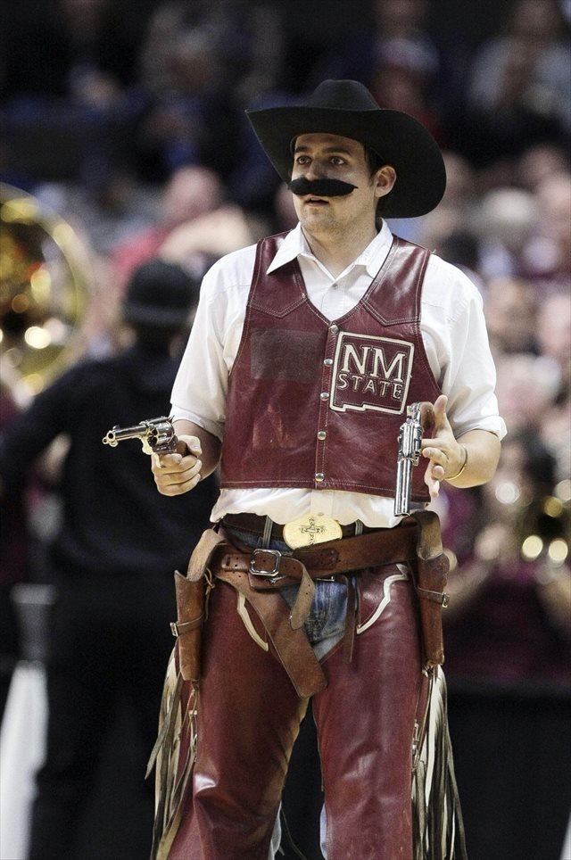 The current New Mexico State live mascot. (USATSI)