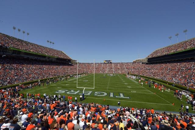 Auburn fans packed Jordan-Hare Stadium for Malzahn's first A-Day as head coach.  (USATSI)