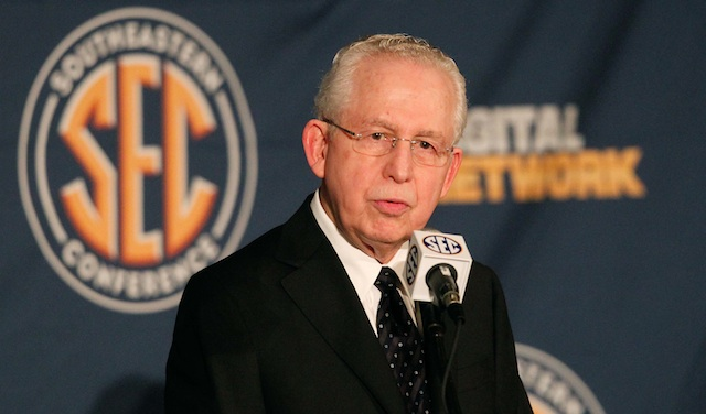 Mike Slive announced the SEC's new bowl affiliations on Monday