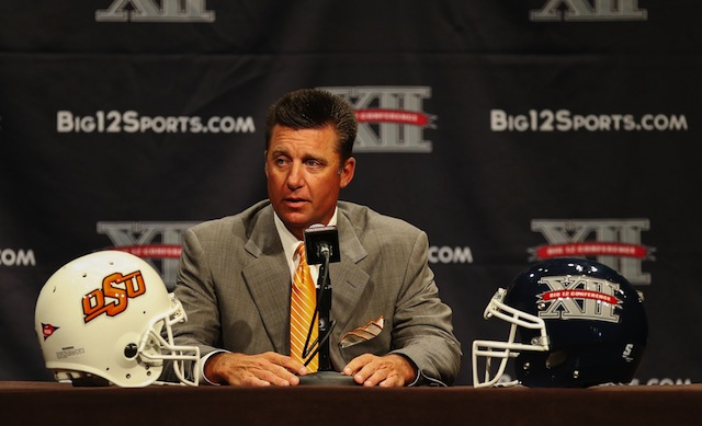 Mike Gundy said spread offenses have created parity in college football. (USATSI)