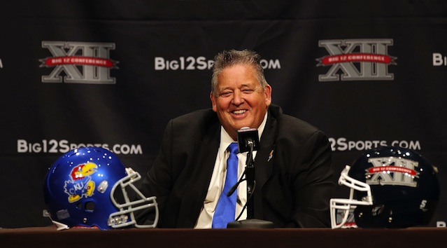 Charlie Weis doesn't think much of his current roster. (USATSI)