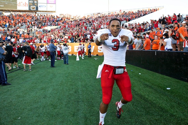 EWU QB Vernon Adams had plenty of reason to celebrate on Saturday