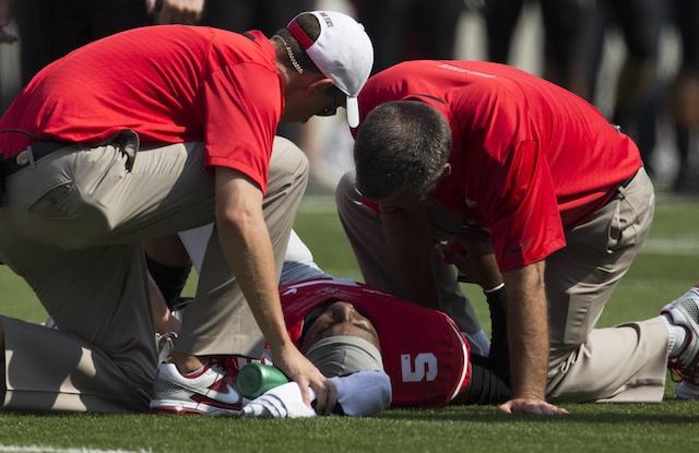Braxton Miller suffered an MCL sprain on Saturday