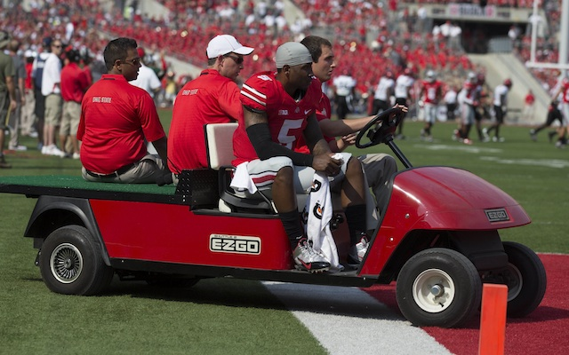 Braxton Miller suffered a sprained MCL on Saturday