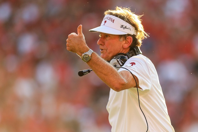Steve Spurrier says he was 'too negative' on his weekly show