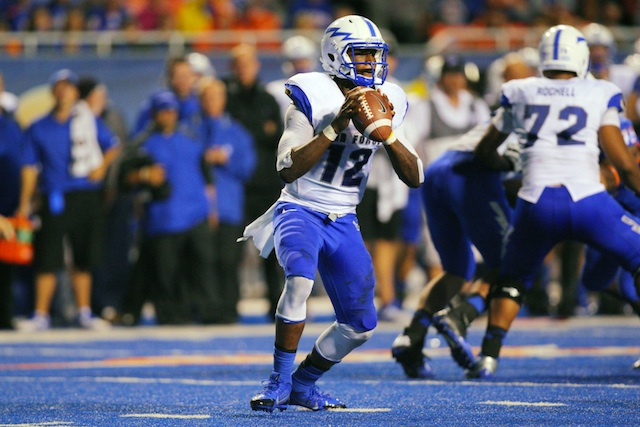 Air Force went 0-3 in Awini's starts after he replaced Kale Pearson