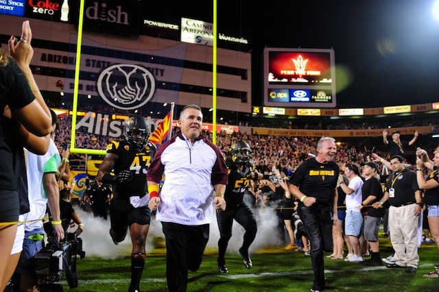 Arizona State will host Texas Tech in 2016 then travel to Lubbock in 2017.  (USATSI)