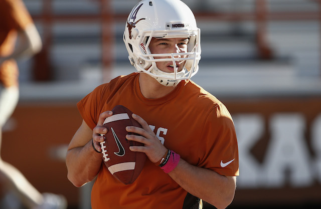 David Ash appeared in only three games for the Longhorns in 2013