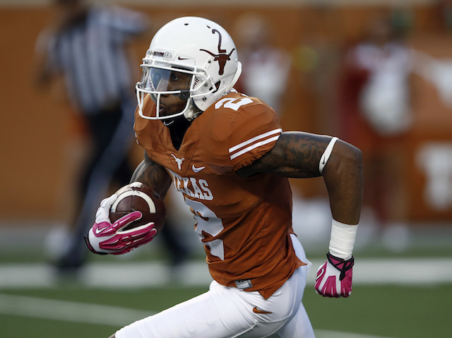 Kendall Sanders is one of two Longhorns to be indefinitely suspended