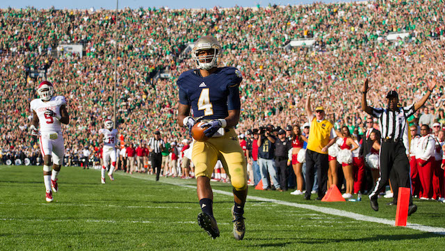 George Atkinson is Notre Dame's second-leading rusher in 2013
