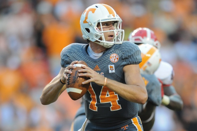 Justin Worley threw 10 touchdowns and eight interceptions in 2013. (USATSI)