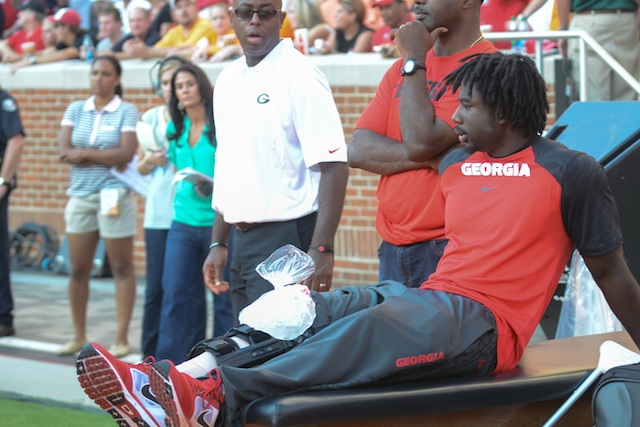 Keith Marshall is one of two Bulldogs who had their season end Saturday