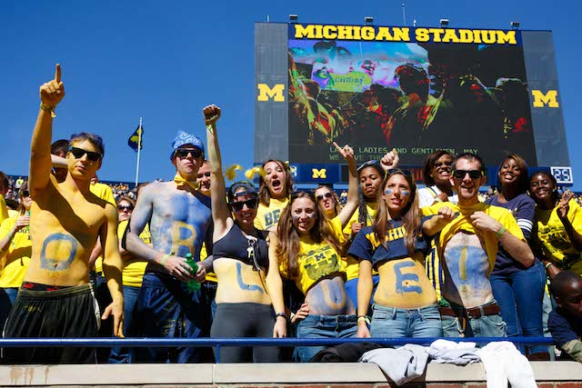 Michigan fans are taking a bit of a break from football right now