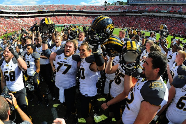 Missouri surged to No. 14 in the AP poll after upsetting Georgia in Athens. (USATSI)