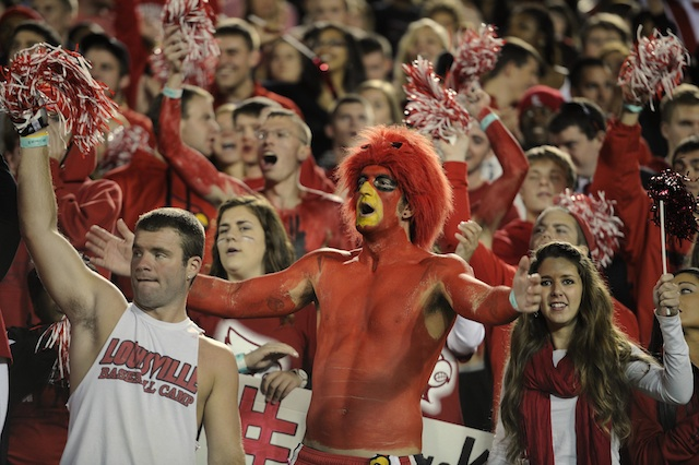 Louisville fans weren't smiling when Friday night's game ended