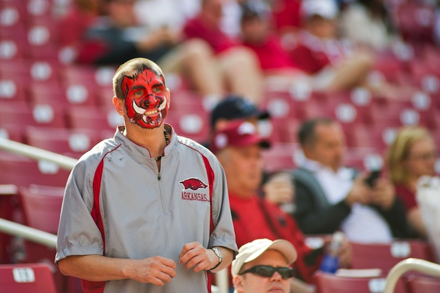 Arkansas is taking the steps to sell alcohol to premium ticket holders in 2014.  (USATSI)
