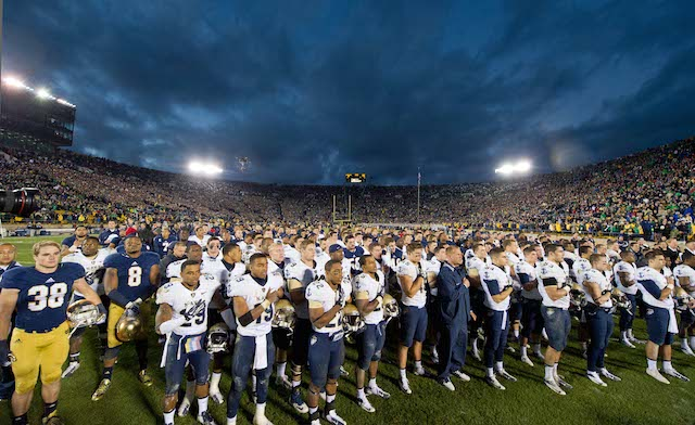 Navy and Notre Dame will play in primetime on CBS