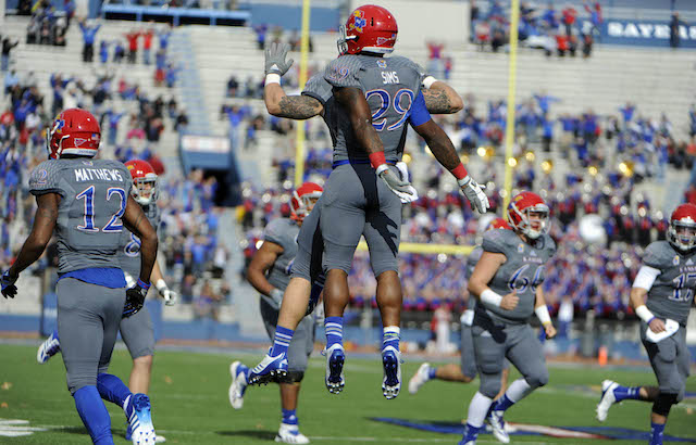 James Sims and the Jayhawks were flying high on Saturday
