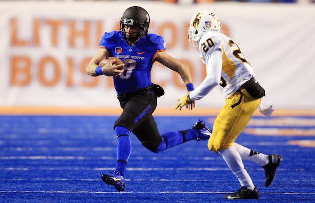Nick Patti played in eight games with Boise State last season