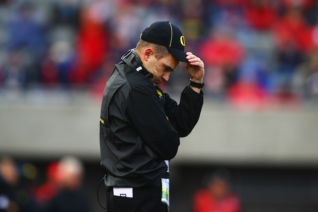 Oregon will likely miss the Pac-12 title game for the second straight year. (USATSI)
