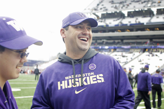 Steve Sarkisian is 34-29 in five seasons at Washington