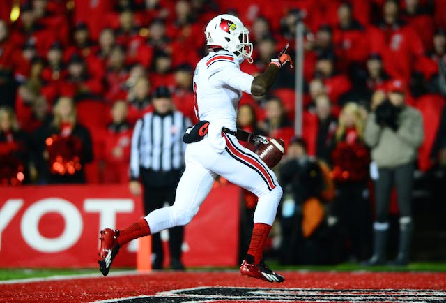 DeVante Parker set a school record with 12 touchdown grabs last year.