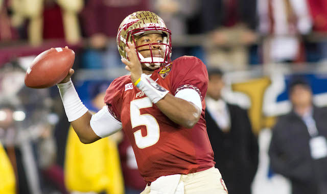 Jameis Winston received 49 of 56 votes in the AP player of the year balloting.  (USATSI)