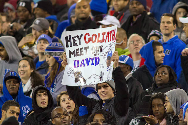 That sign would cost a Duke student more than a bowl ticket